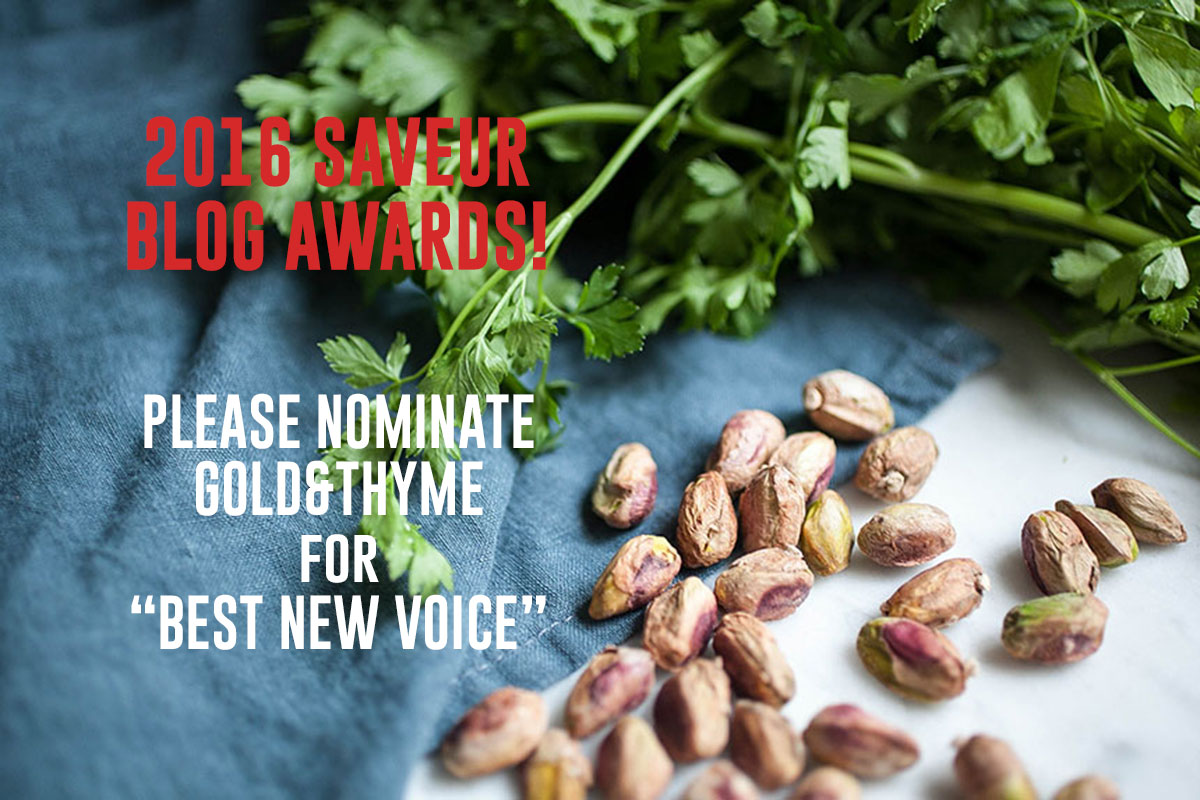 Saveur Blog Awards NOminations_Gold&Thyme